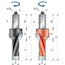 Vrták kolíkovací nepriechodzí so zahĺbením PF08MC