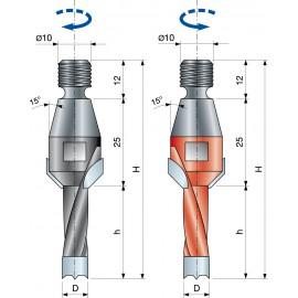 Vrták kolíkovací nepriechodzí so zahĺbením so závitom PF08MA