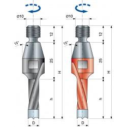 Vrták kolíkovací nepriechodzí so závitom PF09MA