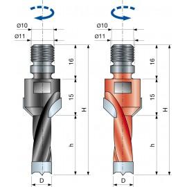 Vrták kolíkovací nepriechodzí so zahĺbením so závitom PF08MB