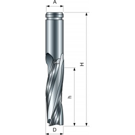 Špirálová fréza hladiaca pozitívna PI03MD