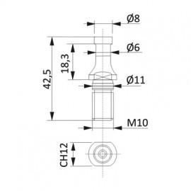 D1-6mm D2-8mm