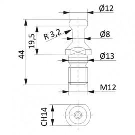 D1-8mm D2-12mm
