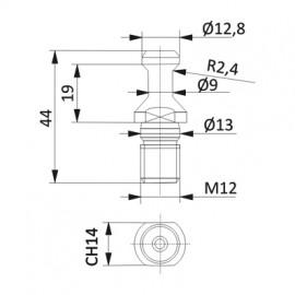 D1-9mm D2-12,8mm